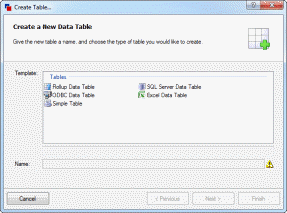 Define tables in DriveWorks