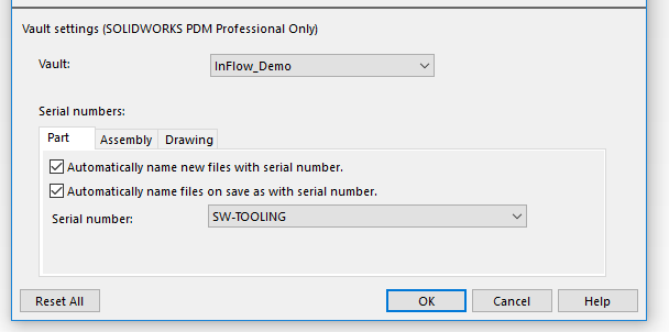 Automatic Part Numbering - SOLIDWORKS PDM Professional