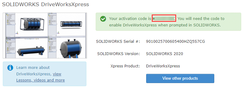DriveWorks Xpress Activation Code